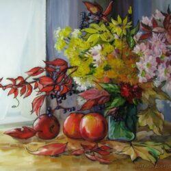 Ukrainian art, picture on glass